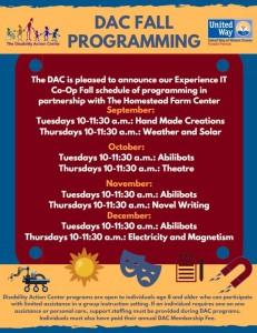 Fall Enrichment Schedule 2019 Snip