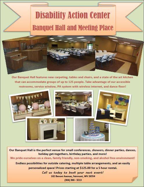 banquet hall disability action center fairmont wvdisability action