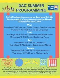 Summer Enrichment Schedule 2019 Snip
